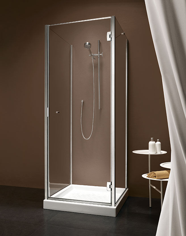 Glass shower cubicle / square / with hinged door - BITHIA - calibe