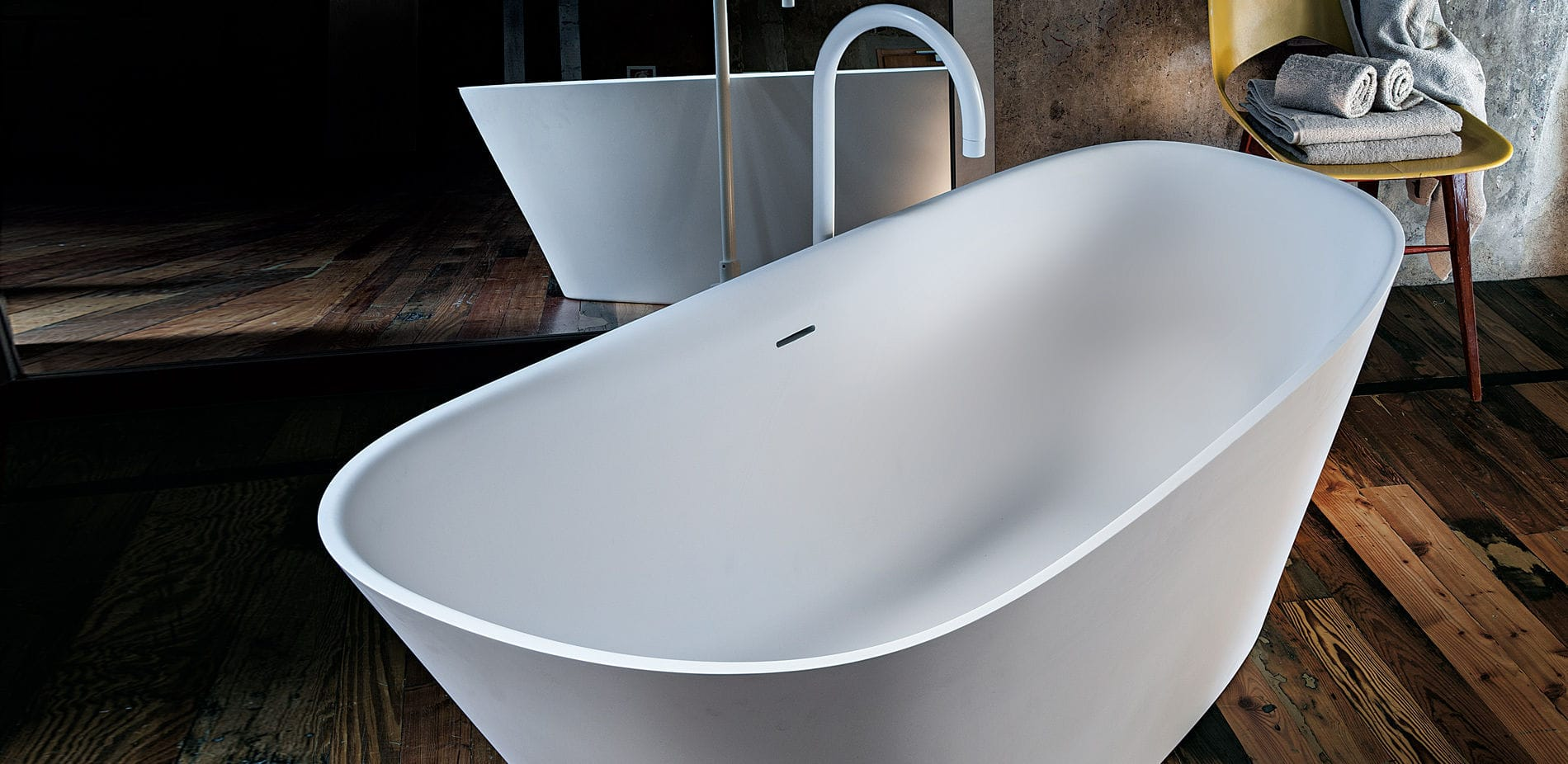Freestanding bathtub / oval / composite - LEVEL 45 - WA3 by Naghi ...