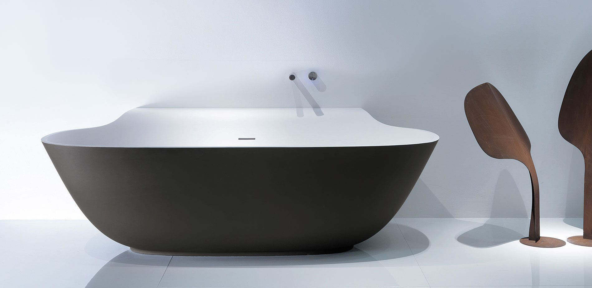 Free-standing bathtub / oval / composite - SCOOP - D4S by Michael ...