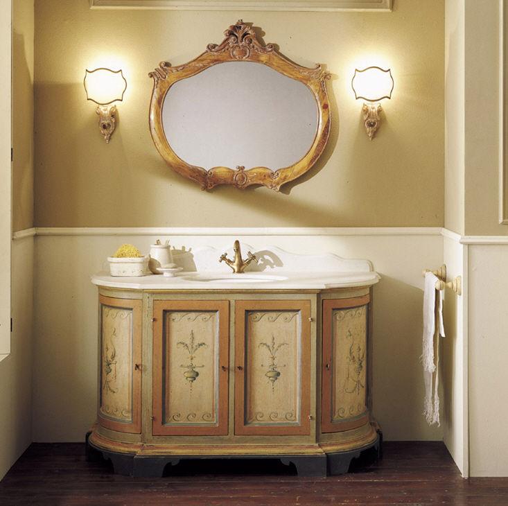 Wooden washbasin cabinet   classic   with mirror   DJERBA. Wooden washbasin cabinet   classic   with mirror   DJERBA   Mobili