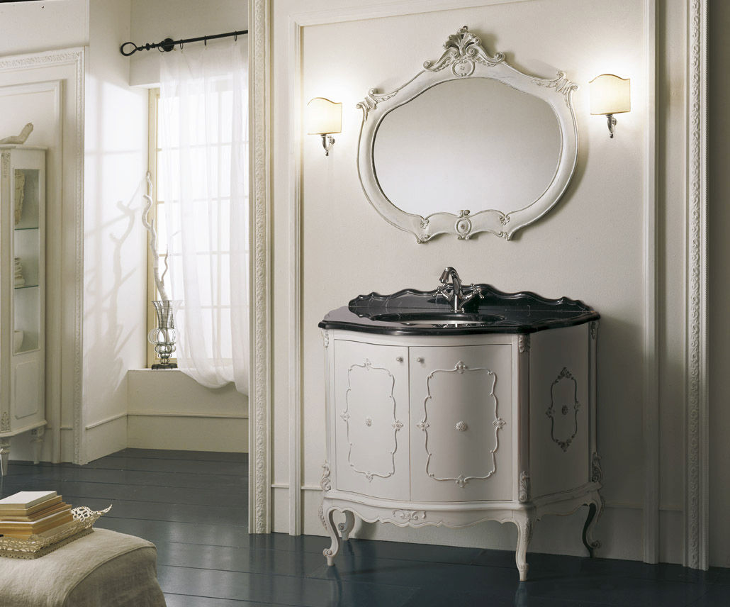 Wooden washbasin cabinet / classic / with mirror - GOYO - Mobili ...
