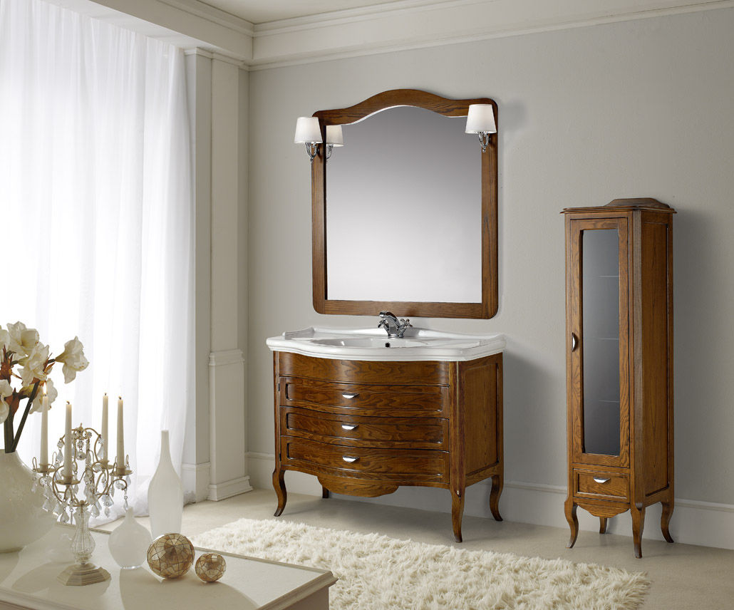 ... Wooden Washbasin Cabinet / Traditional / With Mirror ...