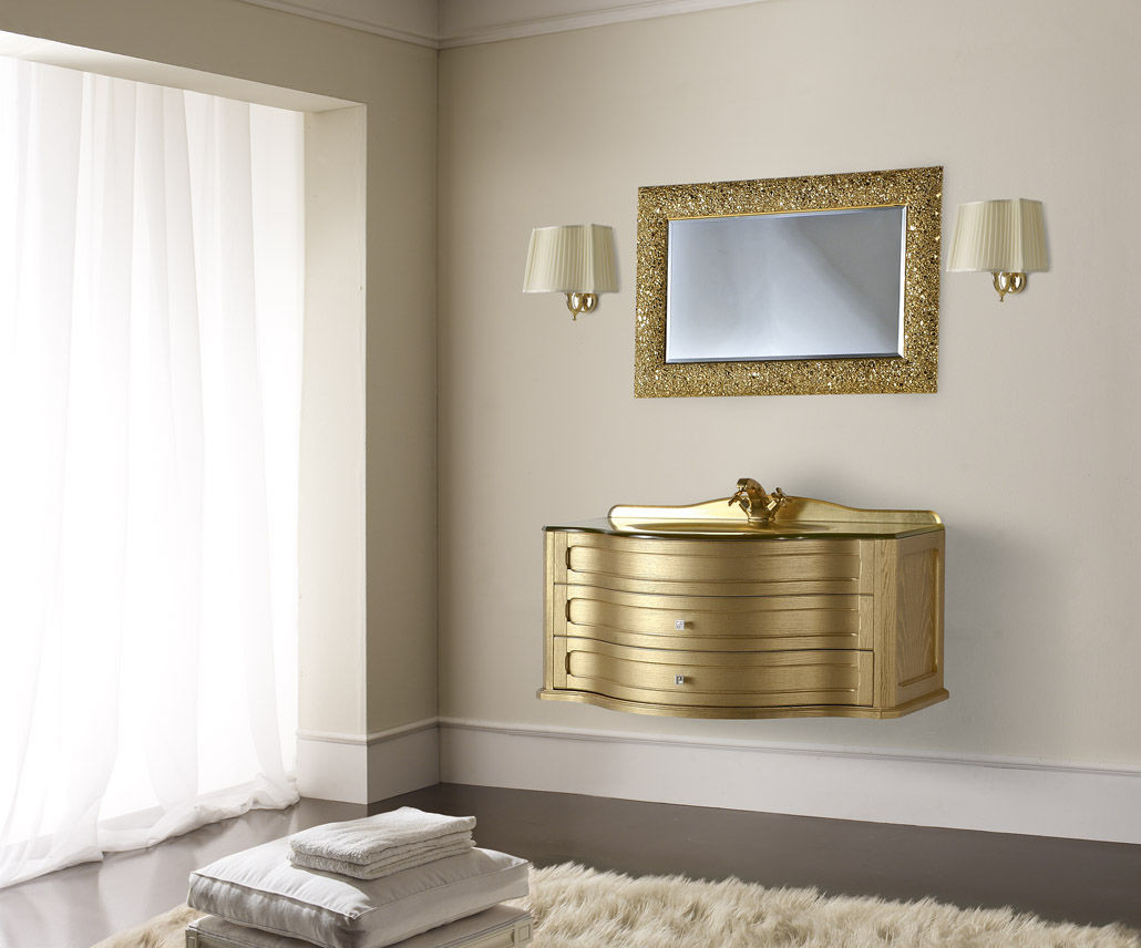 Wooden washbasin cabinet / traditional / with mirror - ANDROMEDA ...