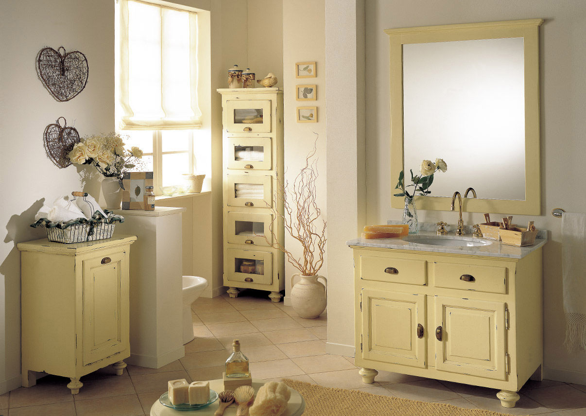 Wooden washbasin cabinet / classic / with mirror - LAMPEDUSA ...
