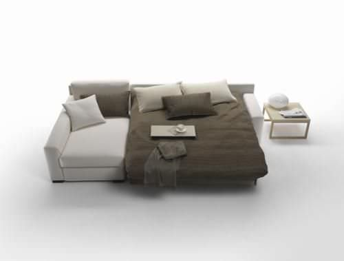 Corner Sofa Bed Contemporary Cotton