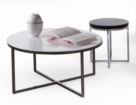 Contemporary Side Table / Tempered Glass / Round / Commercial CIRCLE Giulio  Marelli ...