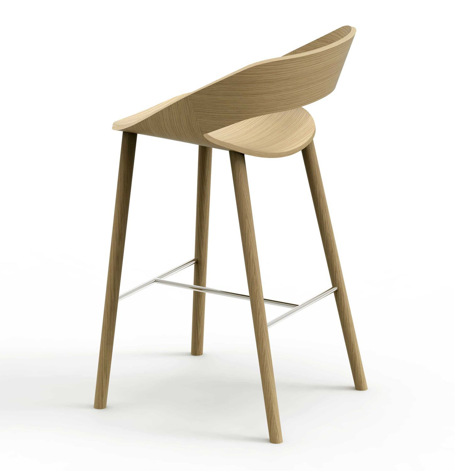 Contemporary bar stool / wooden / steel / contract - KABIRA WOOD ST by Kensaku Oshiro  sc 1 st  ArchiExpo & Contemporary bar stool / wooden / steel / contract - KABIRA WOOD ... islam-shia.org