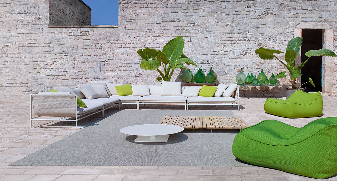 ... Contemporary Fireside Chair / Fabric / Garden FLOAT By Francesco Rota  PAOLA LENTI ...
