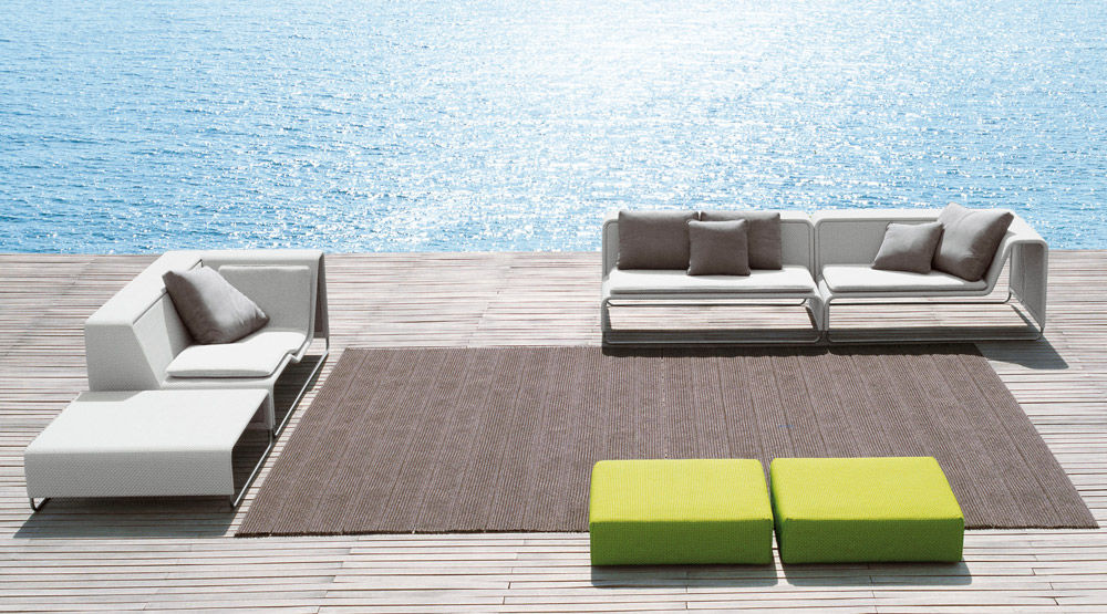 Modular Sofa  Contemporary  Garden  Fabric  Island By Francesco