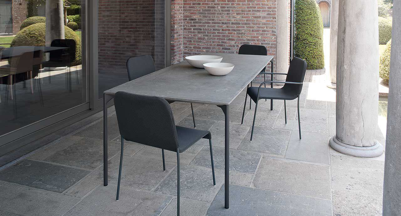 Dining table / contemporary / wooden / concrete - PLANO by ...