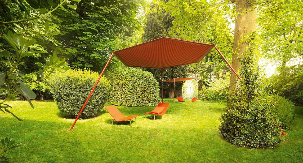 Textile Gazebo / Steel / Aluminum - Pavilion By Renato J. Morganti ... Cabanne Gartenpavillon Paola Lenti Bestetti Associati