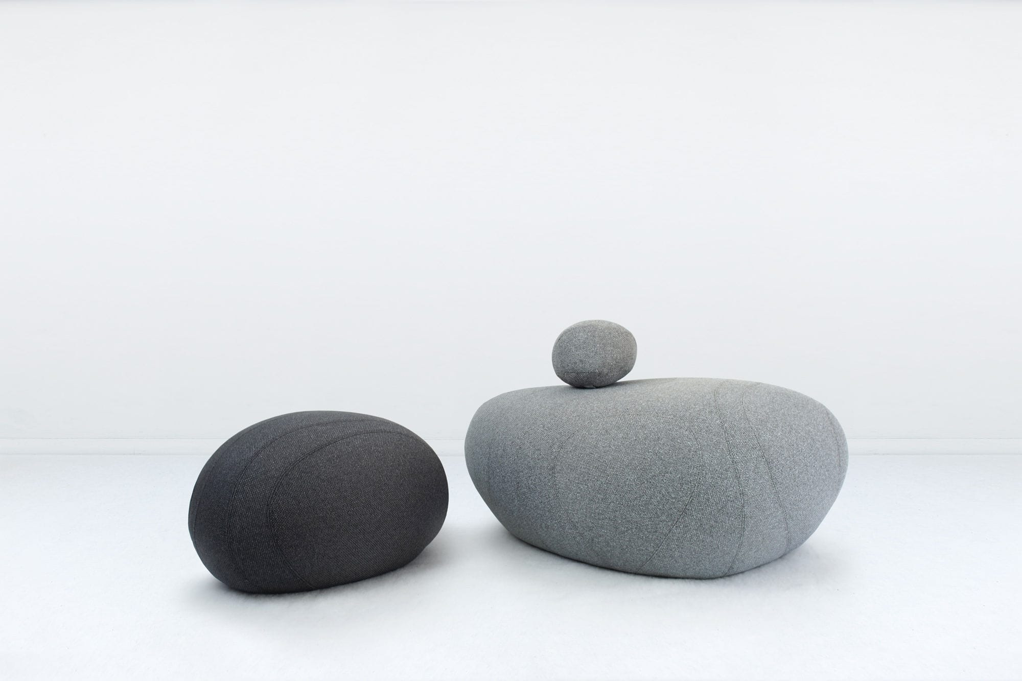 original design pouf / foam / polypropylene / round