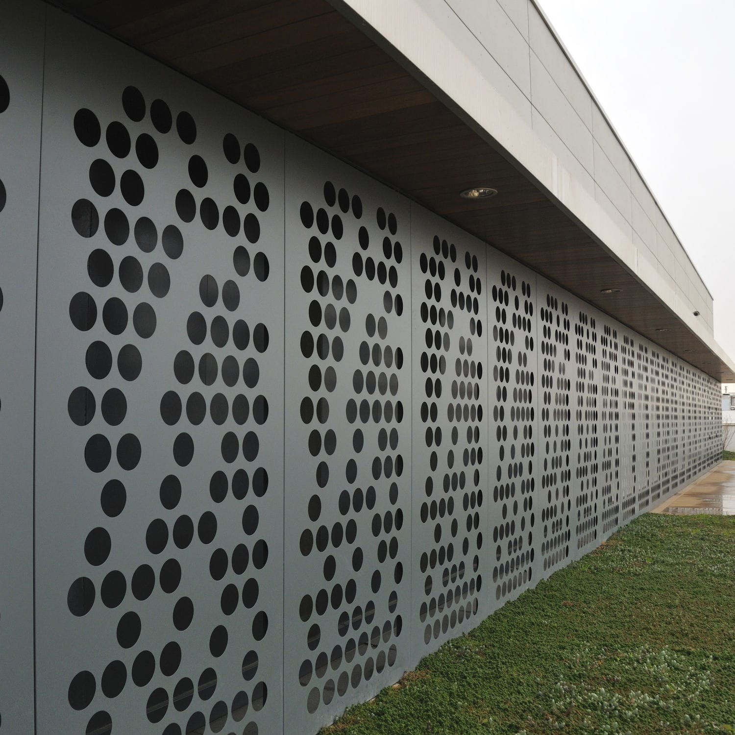 decorative sheet metal perforated aluminum for facades dupanel perfore durmi - Decorative Sheet Metal