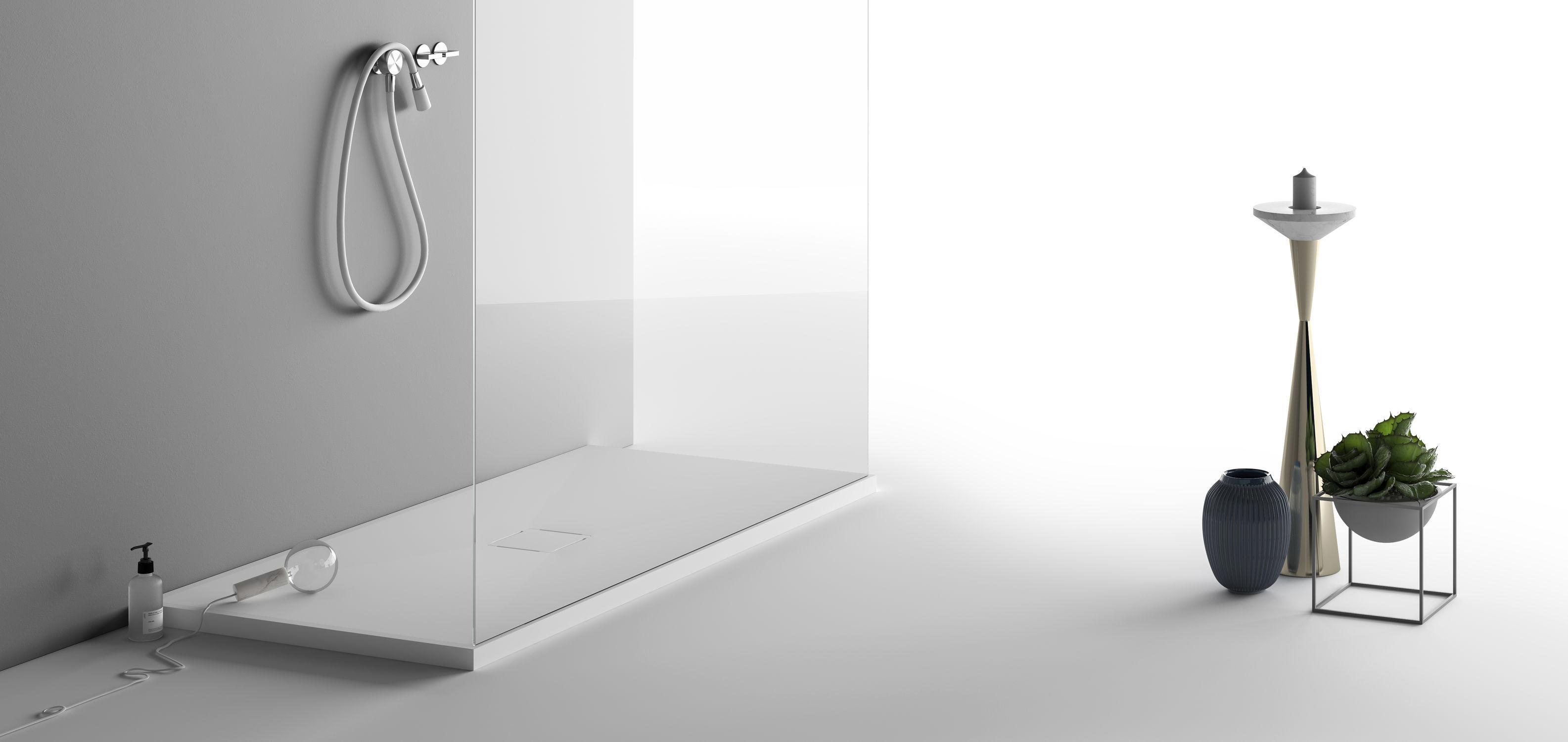 Rectangular Shower Base / Corian® / Custom / Flush   CAMPO