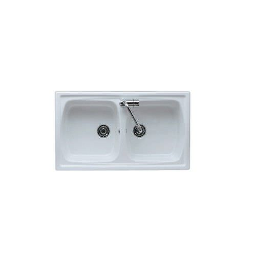 Double kitchen sink / ceramic - 5102D90 - GALASSIA