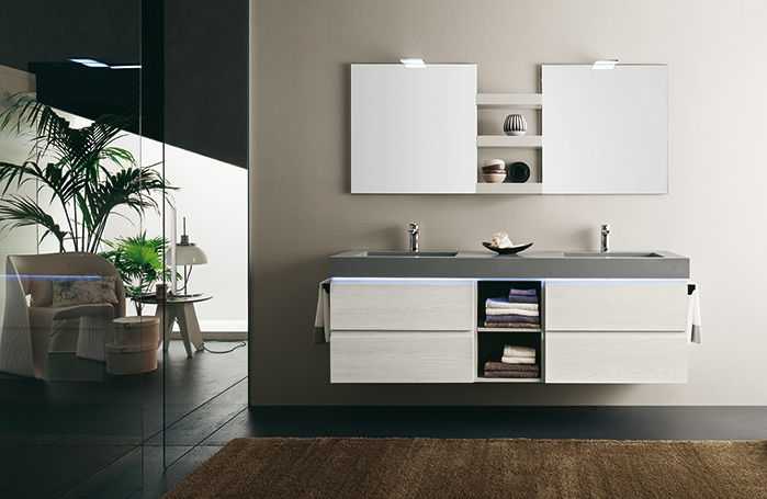 mobili bagno doppio lavabo moderni | sweetwaterrescue - Arredo Bagno Moderno Doppio Lavabo