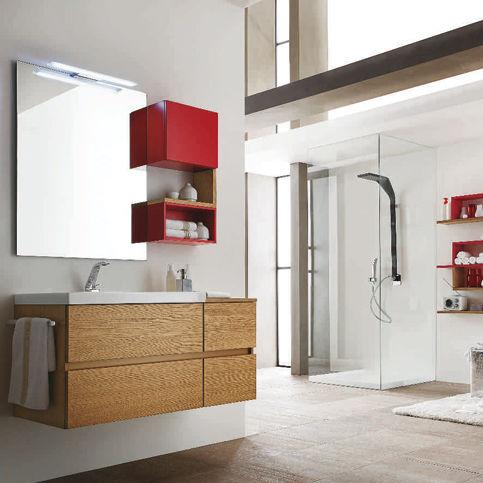 Contemporary bathroom / wooden / laminate - PROGRAMMA CORONA - RAB ...