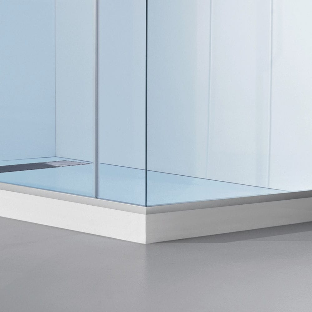 Multi-function shower cubicle / glass / acrylic / chromotherapy ...