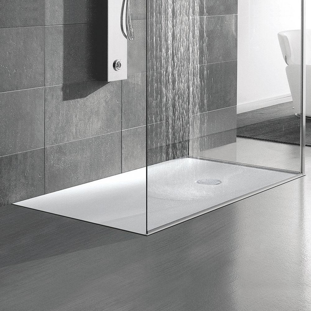 Rectangular Shower Base / Corian® / Extra Flat / Flush CORIAN® HAFRO Srl ...