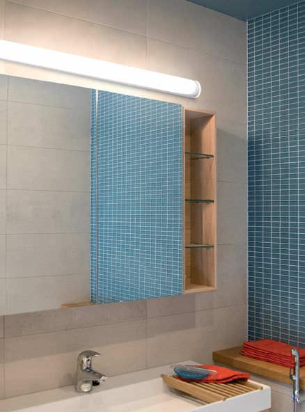 Contemporary wall light / bathroom / iron / polycarbonate - BATH A ...