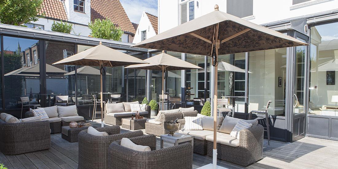 Commercial patio umbrella / fabric - CACHE-CACHE by Sywawa creative ...