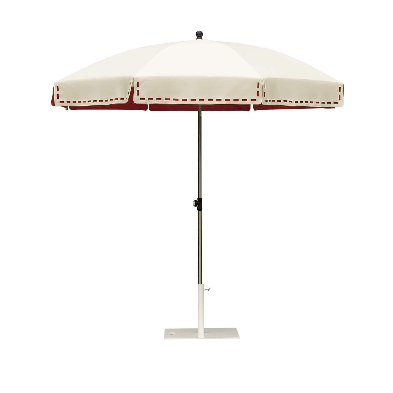Fabric patio umbrella COUTURE by Lucile Roybier Symo Parasols