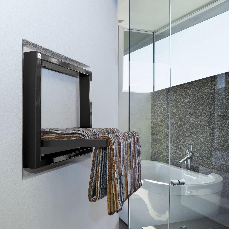 Electric towel radiator / metal / contemporary / square - TOWEL BOX ...