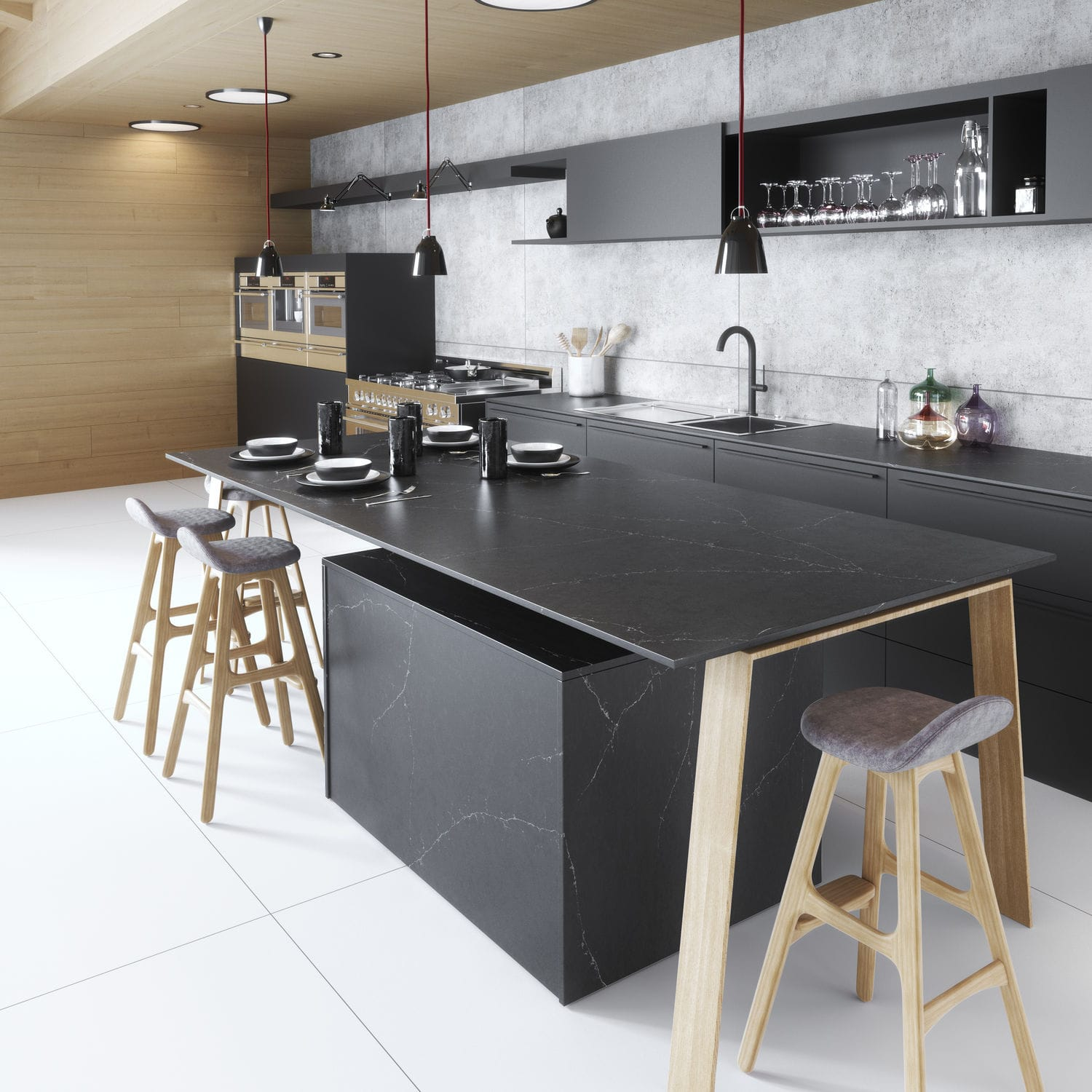 Silestone® Countertop / Kitchen / Black   CHARCOAL SOAPSTONE