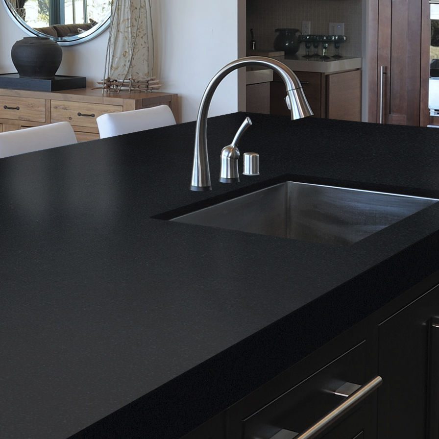 Silestone® Countertop / Kitchen / Black   ICONIC