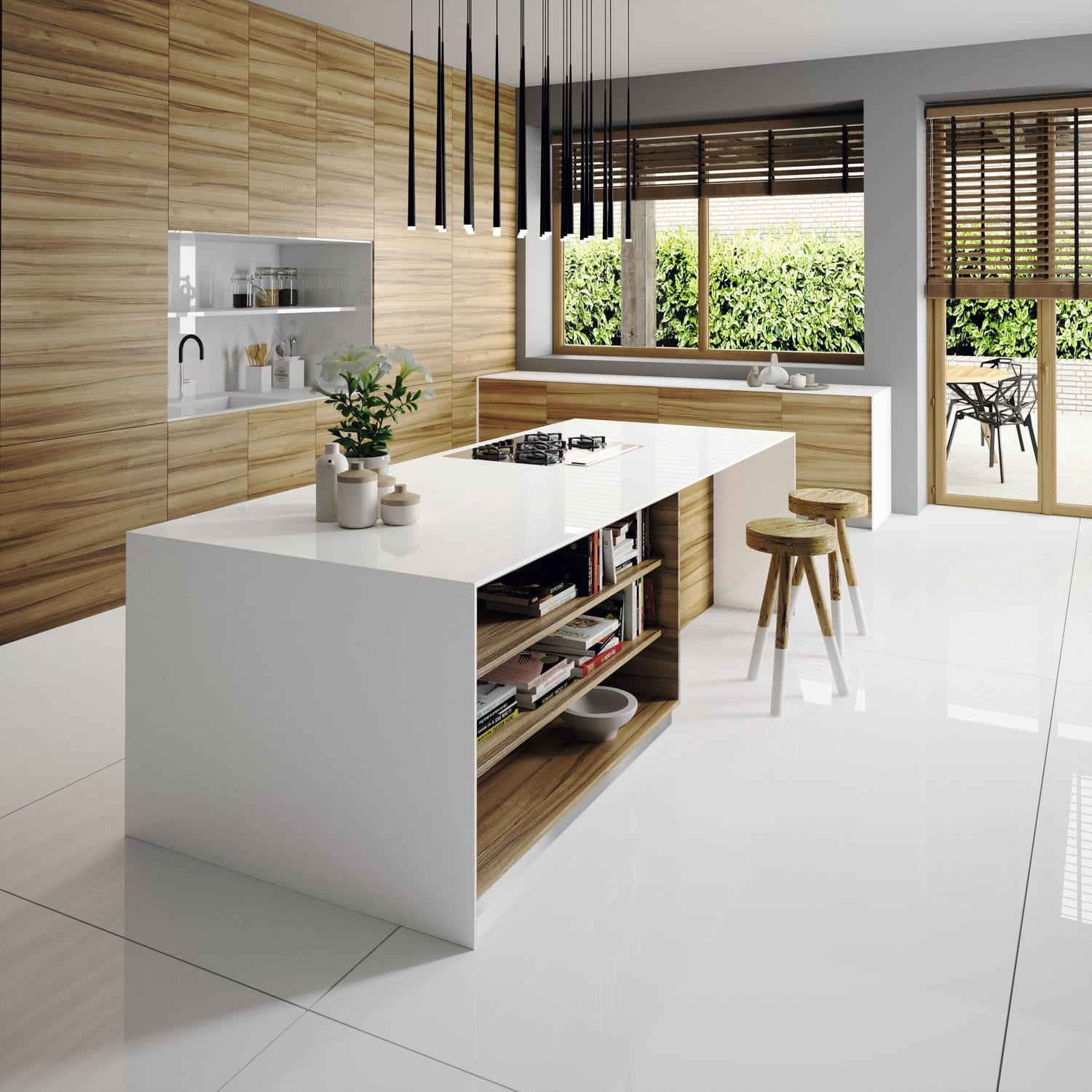 Silestone® Countertop / Kitchen / White   ICONIC