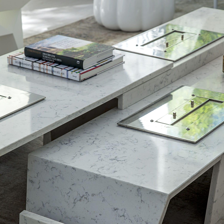 Superieur Silestone® Countertop / Kitchen / White / Beige   LYRA