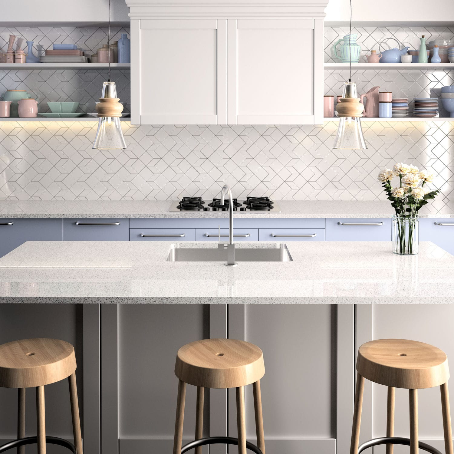 Silestone® Countertop / Kitchen / White   BLANCO STELLAR