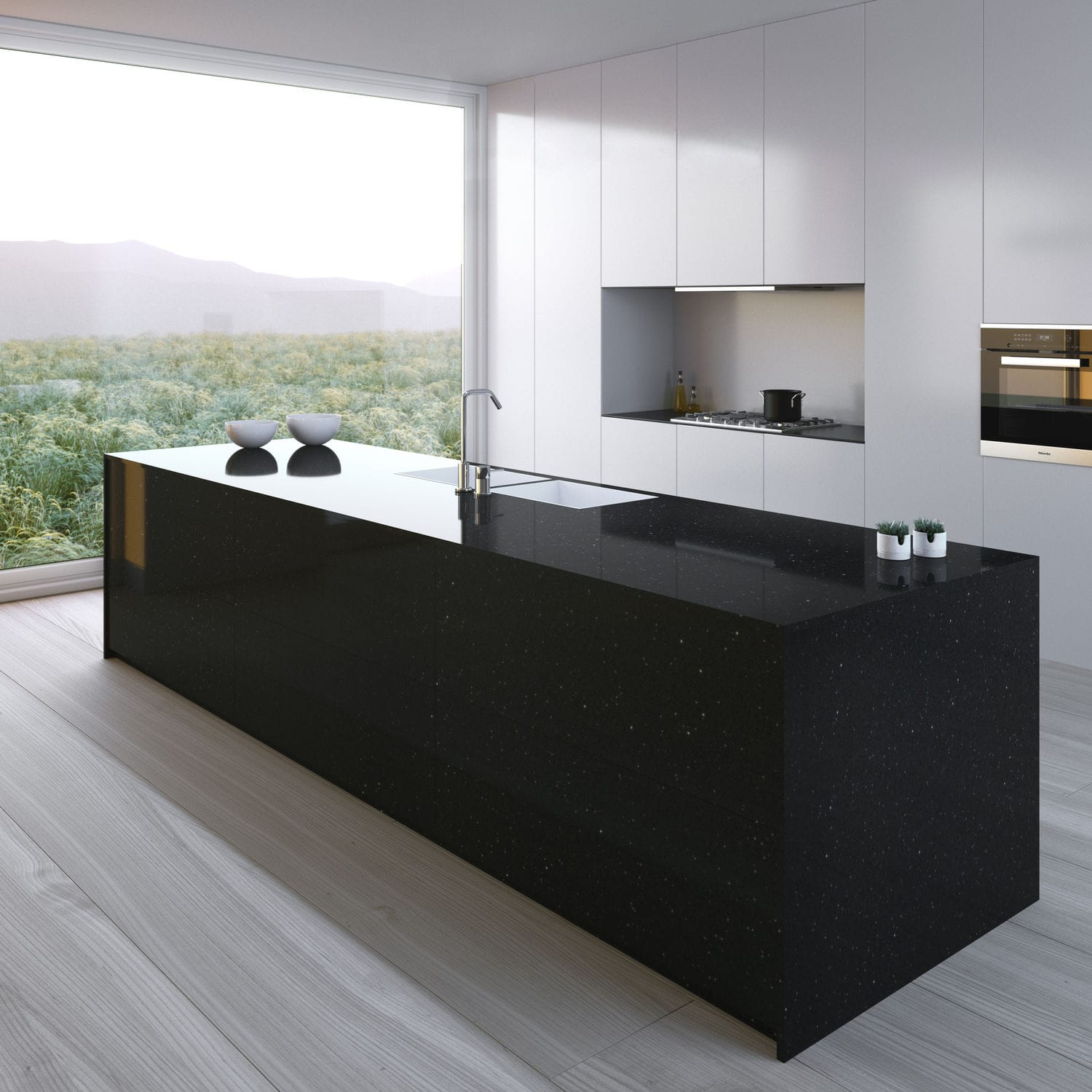 Silestone® Countertop / Kitchen / Black   NEGRO STELLAR