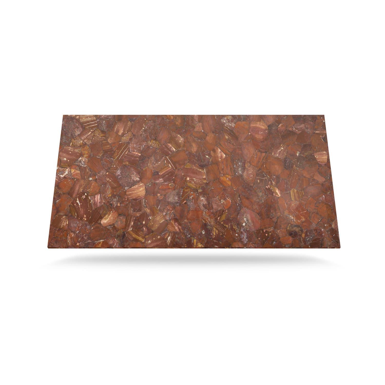 Semiprecious Stone Countertop / Petrified Wood / Solid Surface / Kitchen    RED JASPER