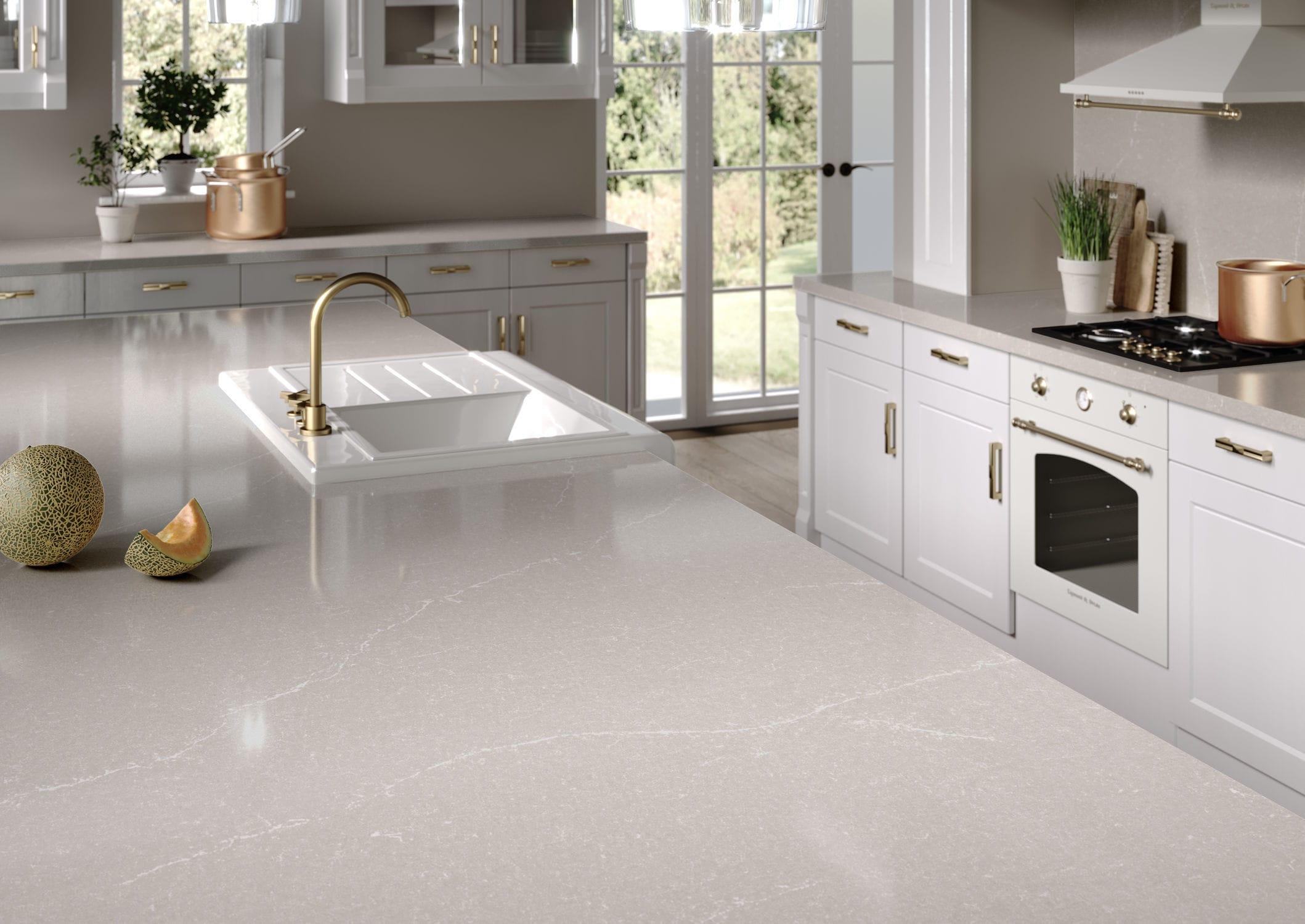Silestone® Countertop / Marble / Kitchen / White   DESERT SILVER