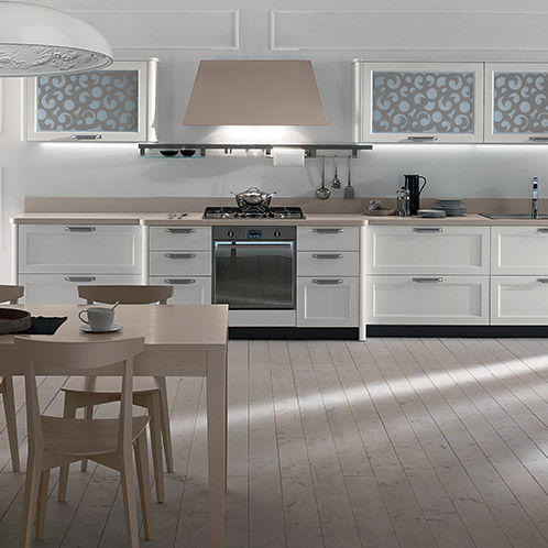 Contemporary kitchen / wooden / lacquered / with handles - FLY - NEW ...