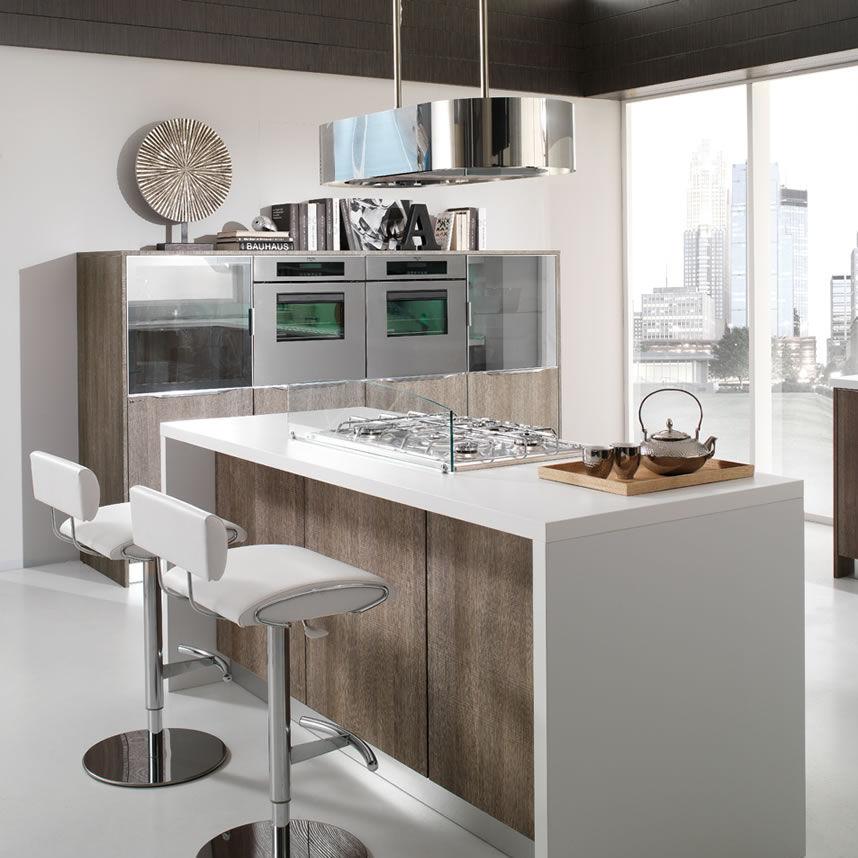 Contemporary kitchen / wooden / island - AIRONE - Torchetti Cucine