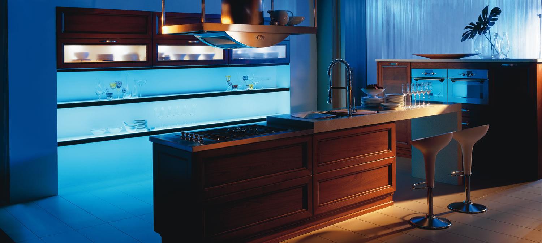 Contemporary kitchen / oak / island / with handles - VICTORIA ...