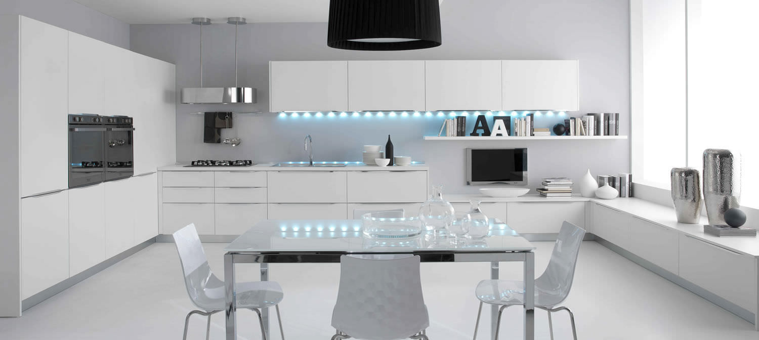 Contemporary kitchen / wooden / U-shaped / lacquered - AIRONE ...