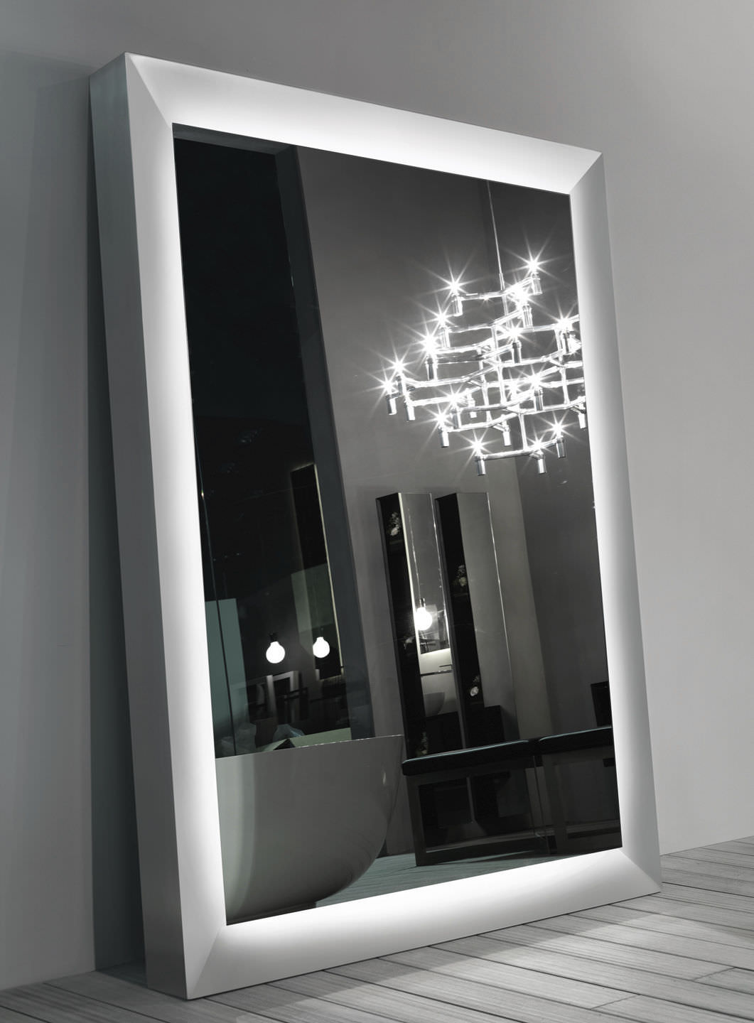 freestanding mirror  contemporary  square  big one  rifra mobili - freestanding mirror  contemporary  square  big one