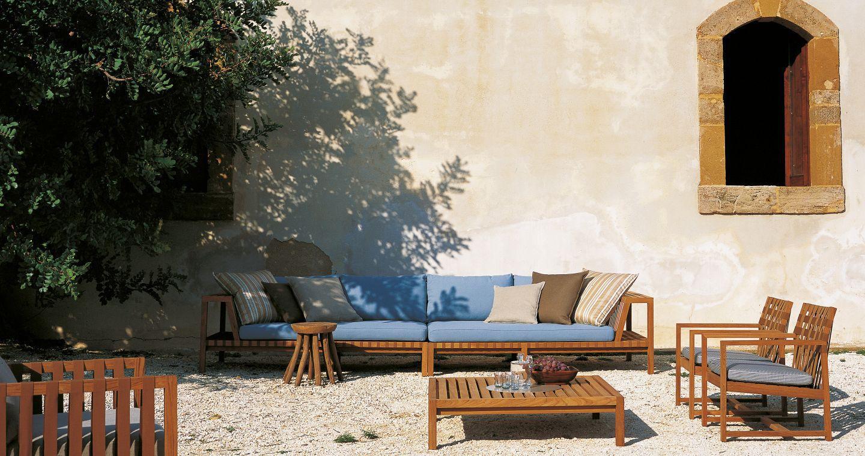 contemporary coffee table / teak / rectangular / garden - Contemporary Coffee Table / Teak / Rectangular / Garden - NETWORK