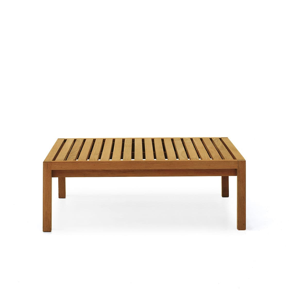 Contemporary Coffee Table Teak Square Outdoor