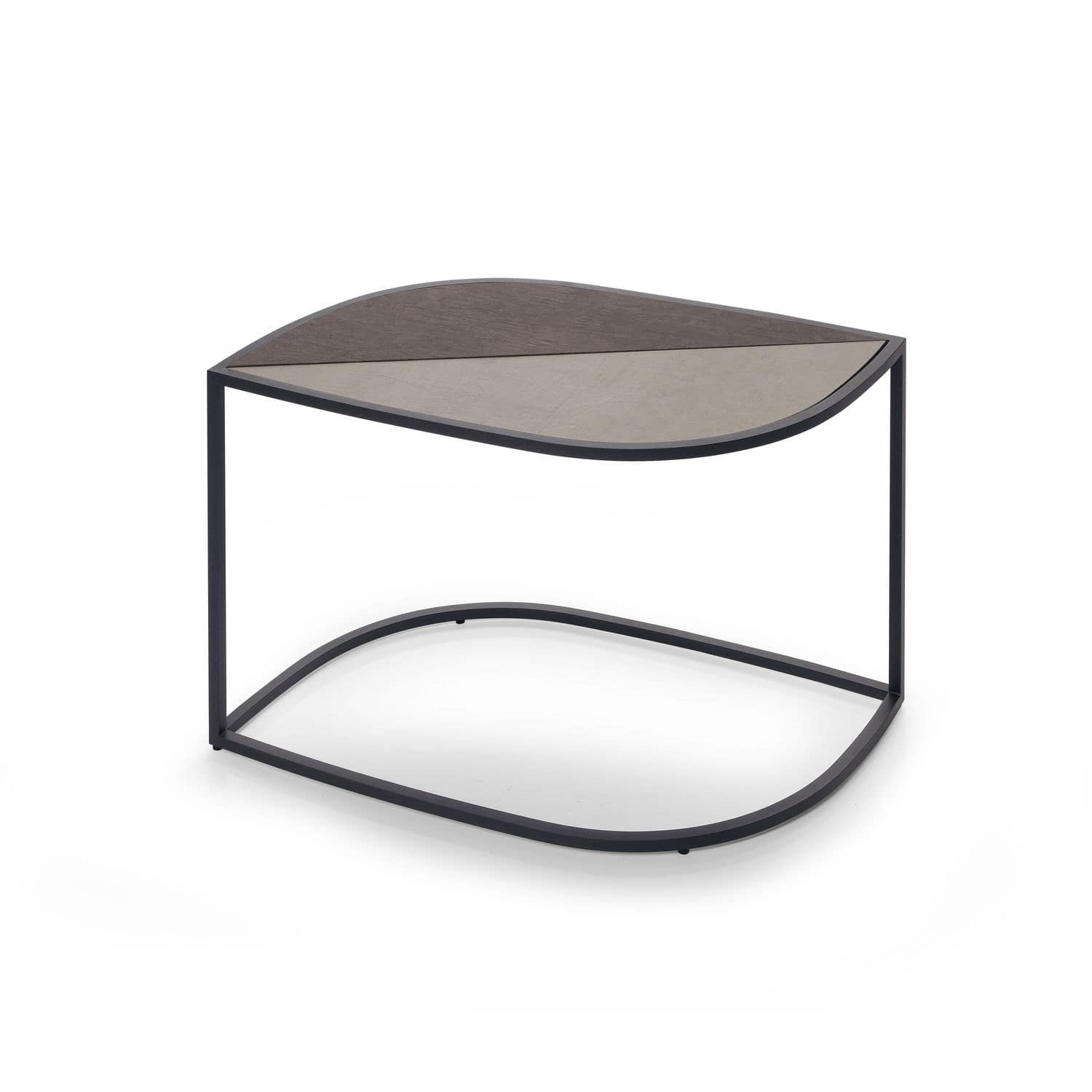 Contemporary Side Table Stainless Steel Garden White Leaf 001 By Gordon Guillaumier