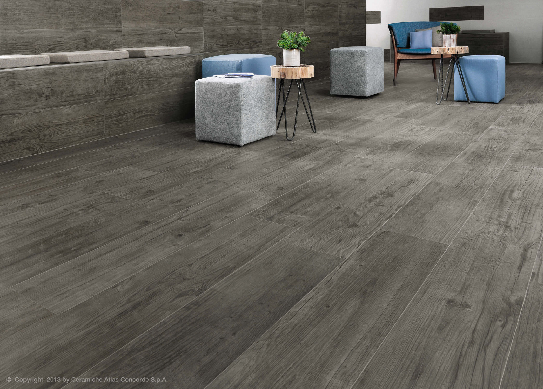 Indoor tile for floors porcelain stoneware matte AXI Atlas