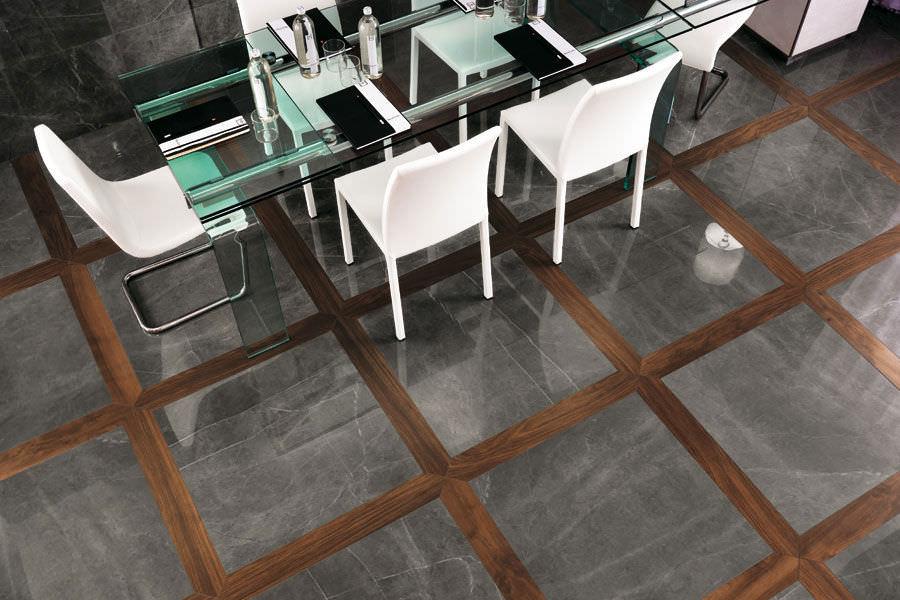 Indoor tile / for floors / porcelain stoneware / matte - MARVEL ...