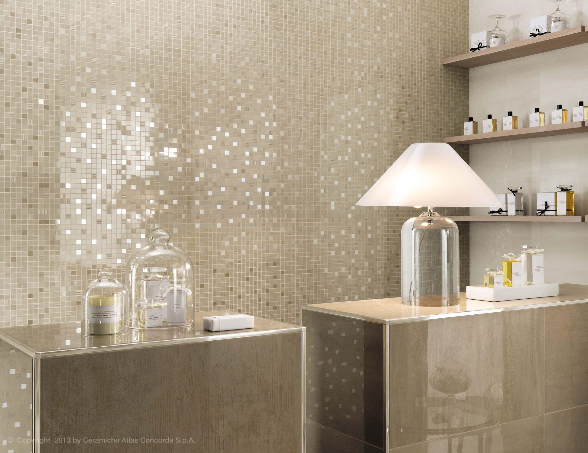 Salle De Bain Mosaique Beige Salle De Bain Beige Et Taupe - Salle de bain mosaique beige