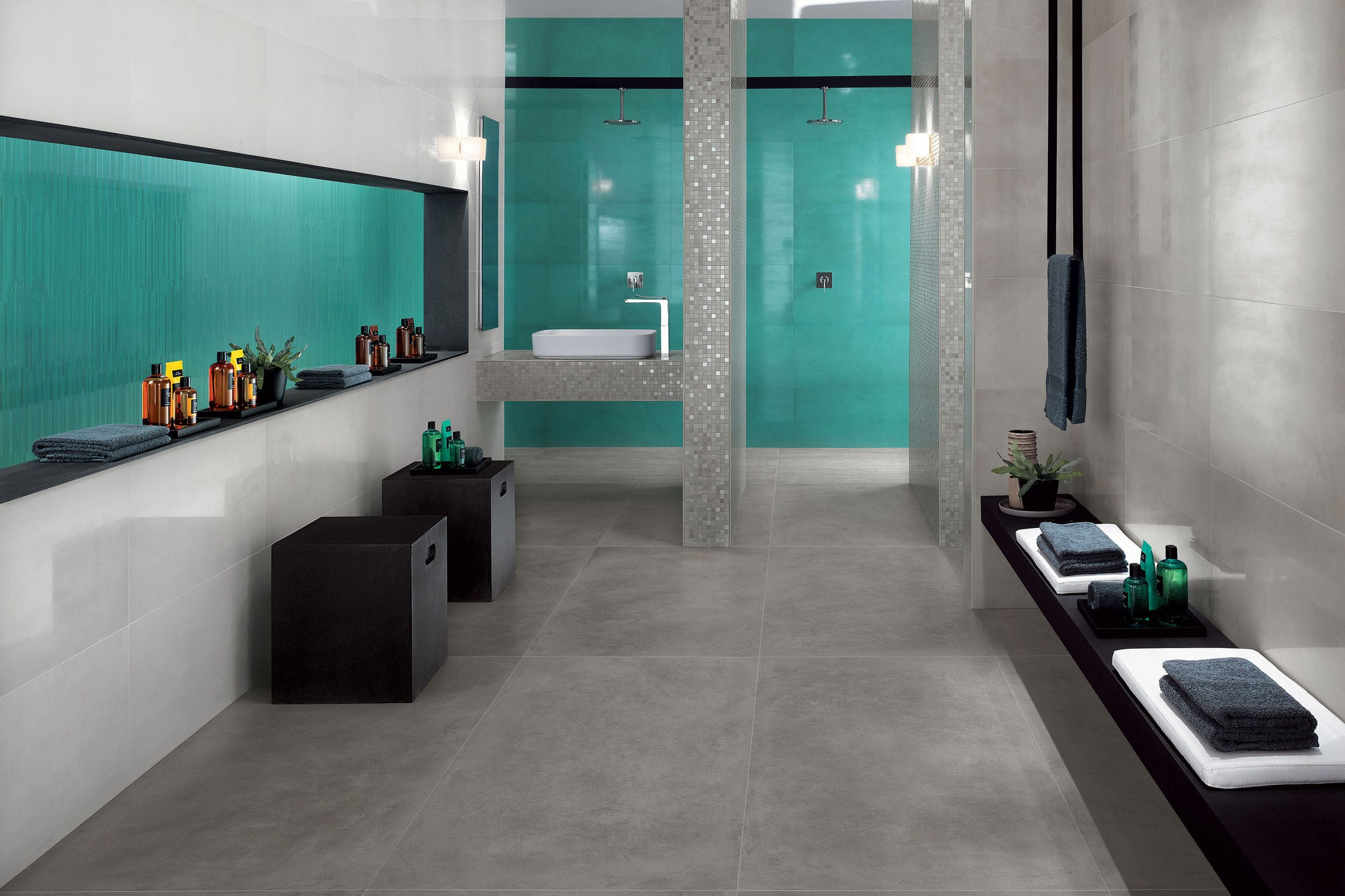 Indoor tile / floor / porcelain stoneware / plain - DWELL WALL ...