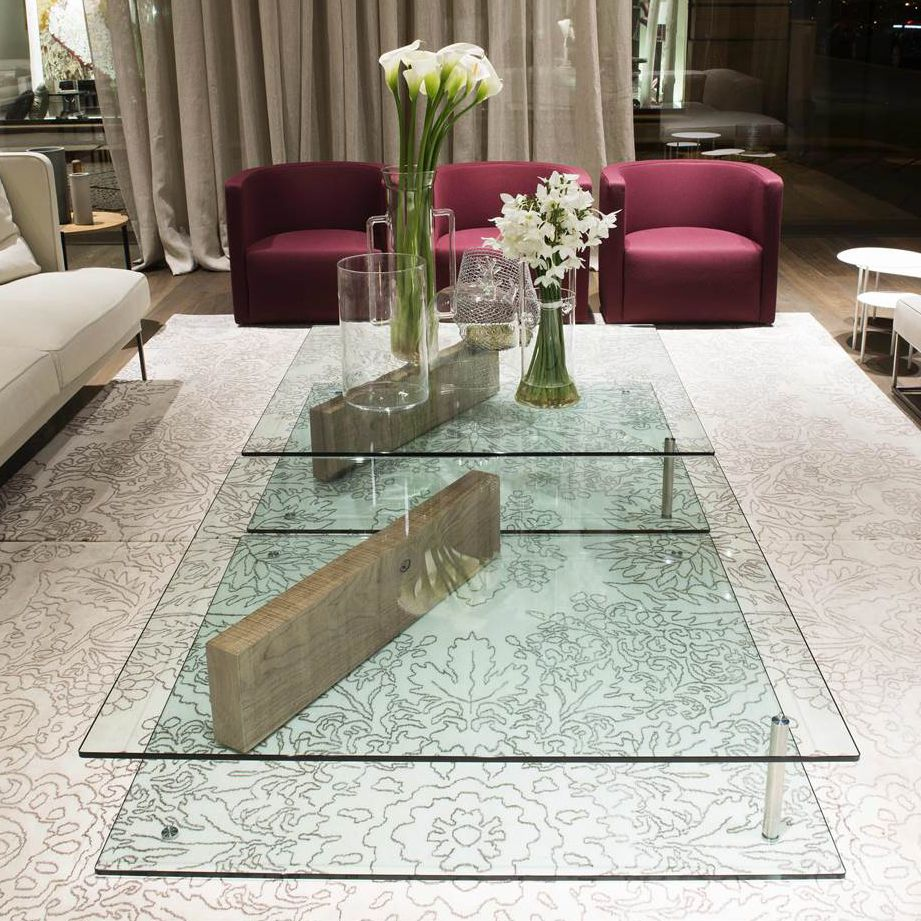 Contemporary Coffee Table Glass Rectangular Plane By Massimo Mariani Living Divani