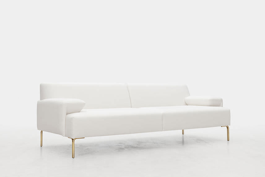 contemporary sofa fabric 3 seater with removable cover daily by mario ruiz