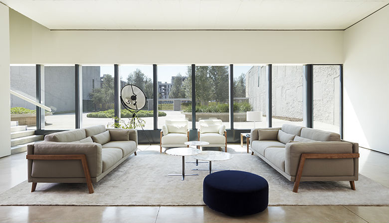 ... Contemporary sofa / ash / fabric / 2-seater TIME by Mario Ruiz Joquer  ...